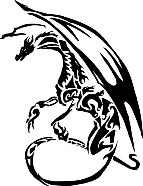 vector dragon tattoo by alex321432 on deviantart
