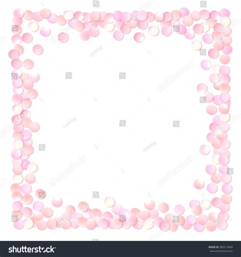 volkswagen cer pink pink realistic round confetti frame design stock vector