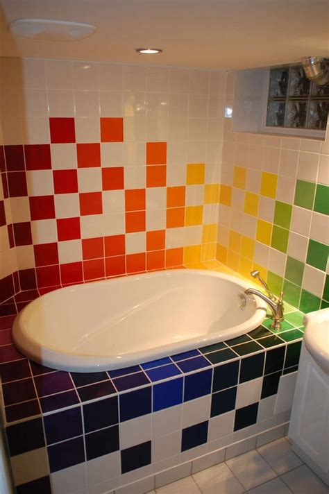 rainbow bathrooms hand painted bathroom tile design ideas decozilla