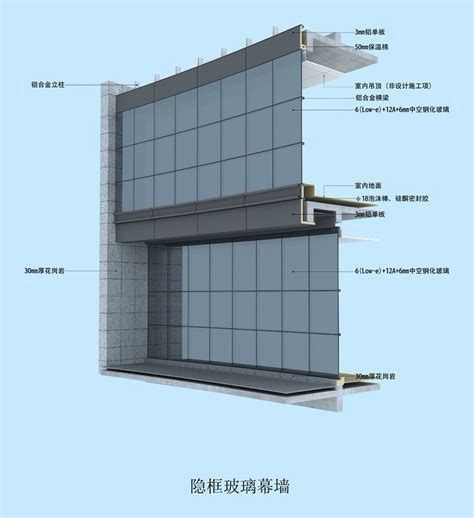 glazed curtain wall china glass curtain walls for building office shop front