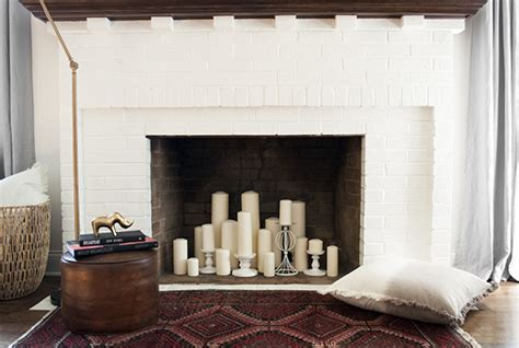 how to style your faux fireplace for fall coco kelley