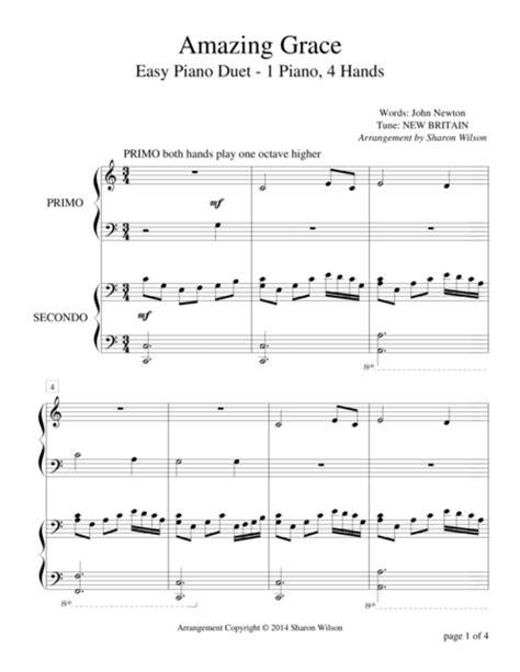 tutorial piano duet amazing grace easy piano duet 1 piano 4 hands