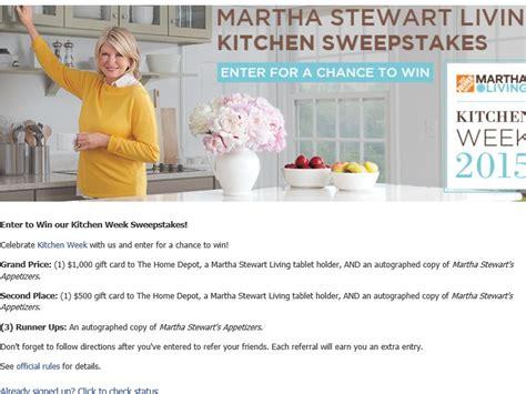 Martha Stewart Living Giveaway - martha stewart living kitchen week 2015 sweepstakes
