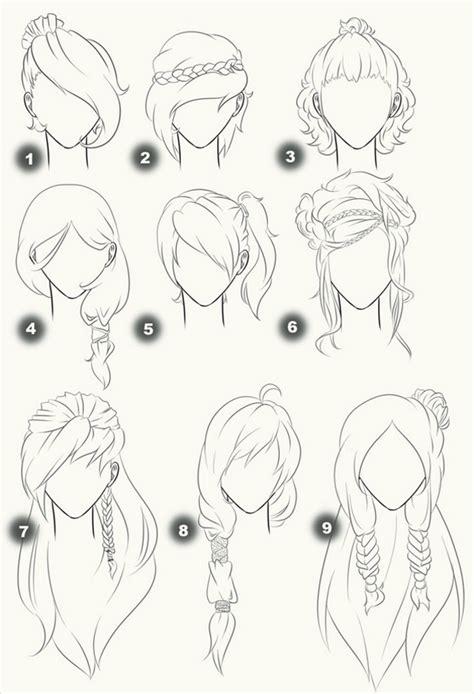 line art hair tutorial mod 232 les de cheveux dessin land