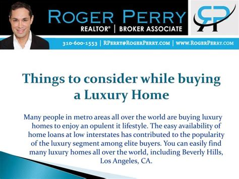 things to consider when buying a house ppt things to consider while buying a luxury home