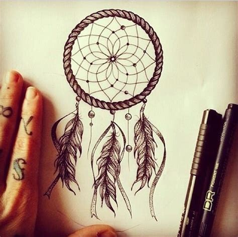 simple dreamcatcher tattoos catcher idea tattoos