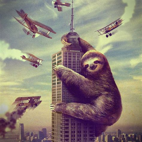 Sloth Shower Curtain by Slothzilla Shower Curtain