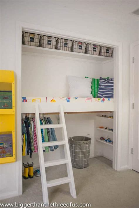 bunk bed with closet closet reading loft reveal bigger than the three of us