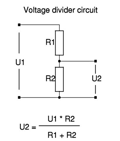 voltage divider resistors converting 12v to 5v mysensors forum
