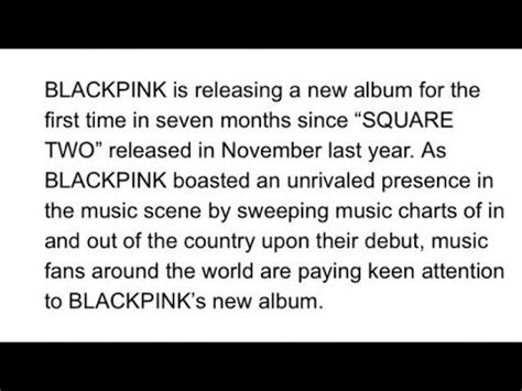 blackpink news blackpink comeback with new album news youtube