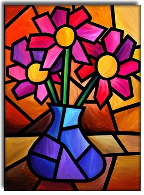 cubist paintings flowers by amanda hone from contemporary cubism gallery