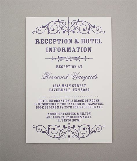 reception cards template vintage filigree reception card print