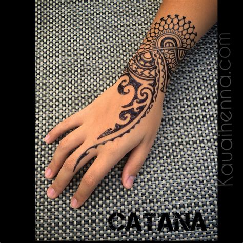 polynesian tattoo inspired jagua body art by catana on