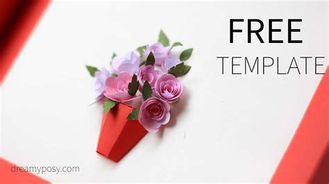 diy flower card template how to diy 3d paper flower card free template
