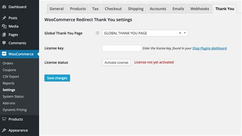 woocommerce page templates woocommerce redirect thank you