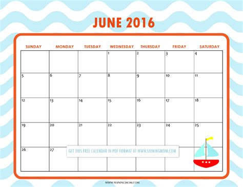 free printable planner 2016 cute pretty printable calendars for june