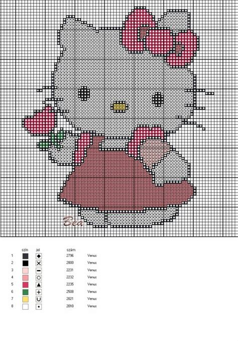 hello kitty cross stitch hello kitty cross stitch cross stitching pinterest