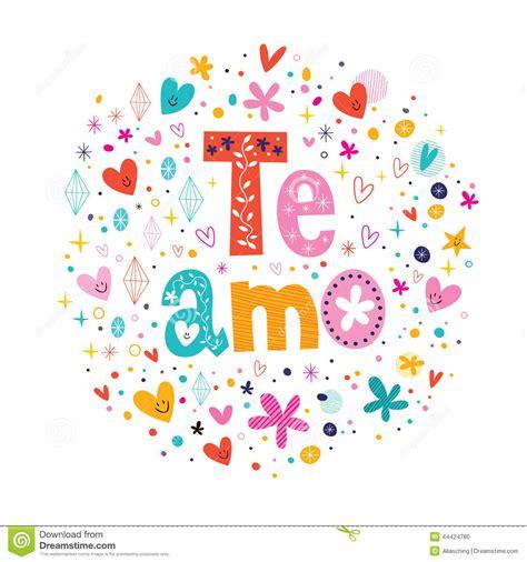 lettere ti amo te amo spagnolo ti amo che segna progettazione con