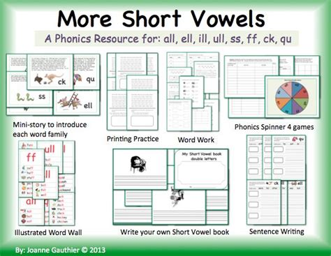 double pattern worksheet double letter short vowel word families and spelling