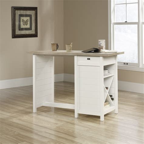 white kitchen island table sauder cottage road work table soft white kitchen
