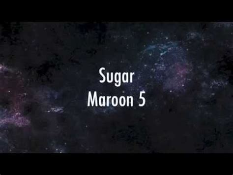 sugar maroon 5 lyric video 1 hour music onerepublic counting stars lyrics doovi