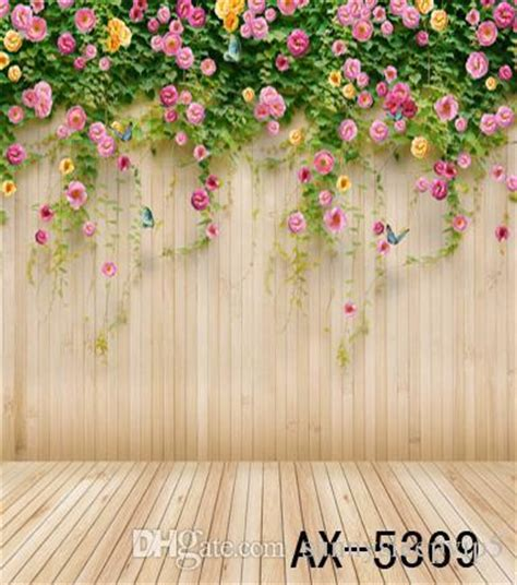 pretty painted floors with flower designs 2017 2014 backdrop new style wedding background photo