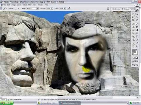 Spock On Mt Rushmore Photoshop Tutorial Youtube Mount Rushmore Photoshop Template