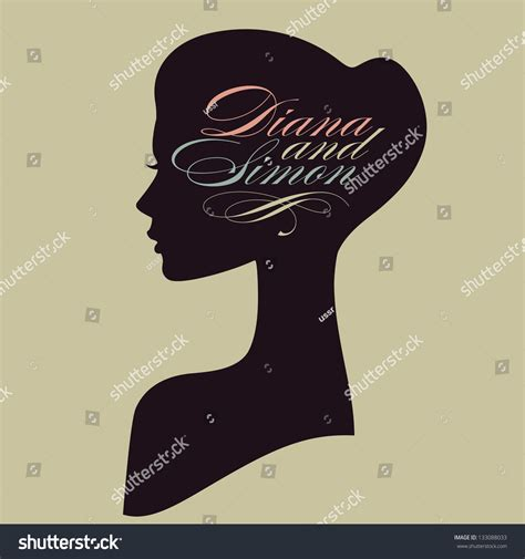 Hairstyle Tools Designs For Silhouette Cameo by Beautiful Silhouette Profile Wedding Stock