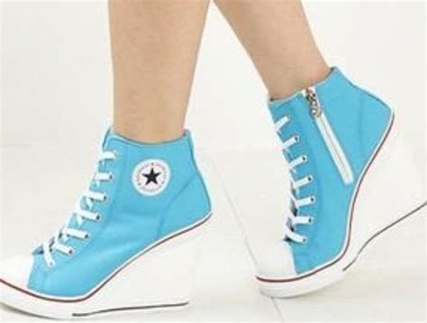 convers high heels blue converse high heels shoes