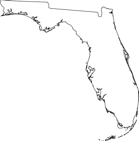 Florida Map Outline Png florida outline florida historical society