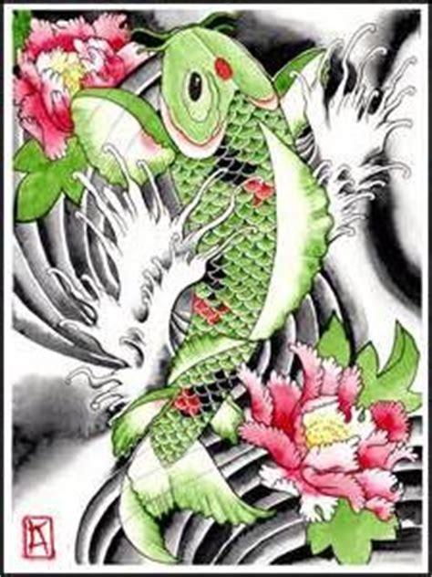 koi tattoo green koy fish tattoo on pinterest coy fish tattoos koi fish