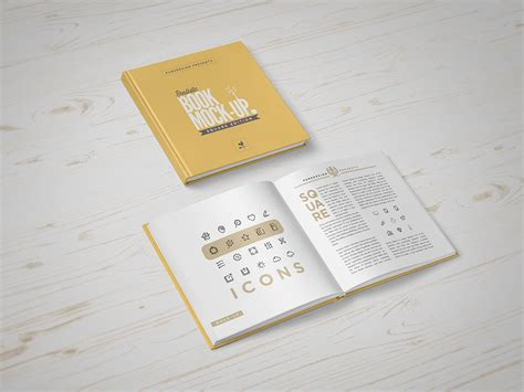 book layout mockup square book mock up punedesign