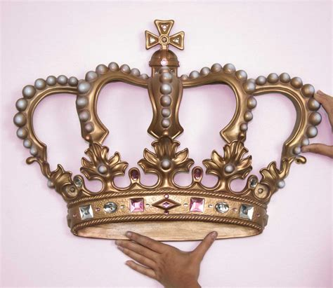 crown decor crown princess wall decor just home design ideas crown