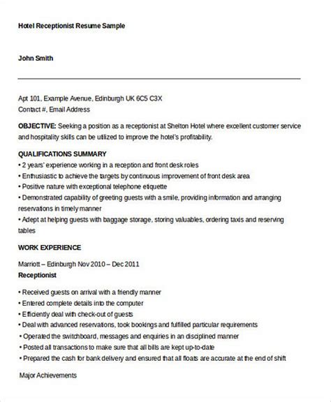 receptionist resume sle 2016 receptionist resume for successful applicants