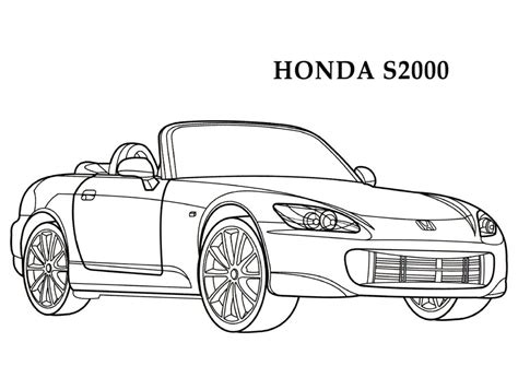 coloring pages honda cars honda s2000 cars coloring pages kids coloring pages free