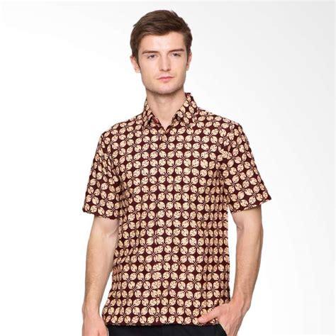 Jual Batik Anakara jual anakara batik marunara sleeve kemeja pria maroon harga kualitas