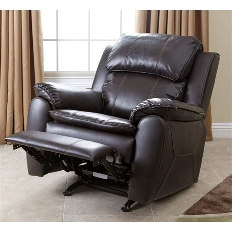 Abbyson Living Recliner by Abbyson Living Harbor Leather Rocker Recliner Chair In