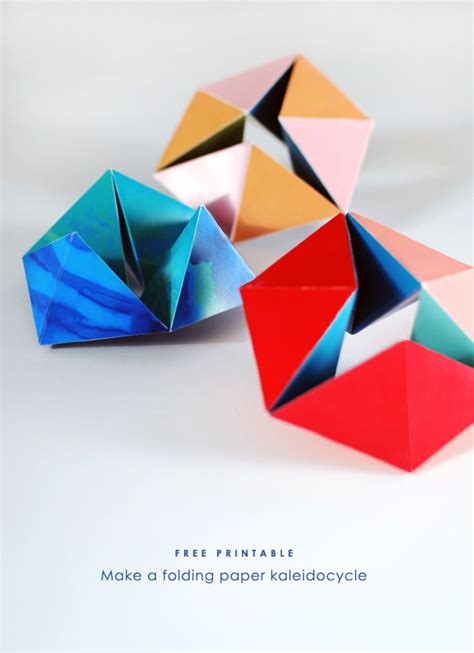 Paper Folding For Free - free printable make a folding paper kaleidocycle we are