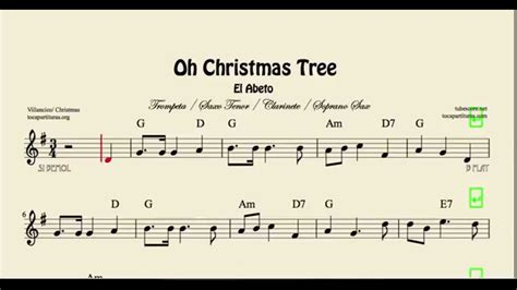 oh christmas tree sheet music for trumpet clarinet tenor
