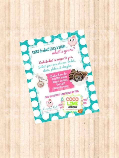 new customer postcard origami owl inspired by