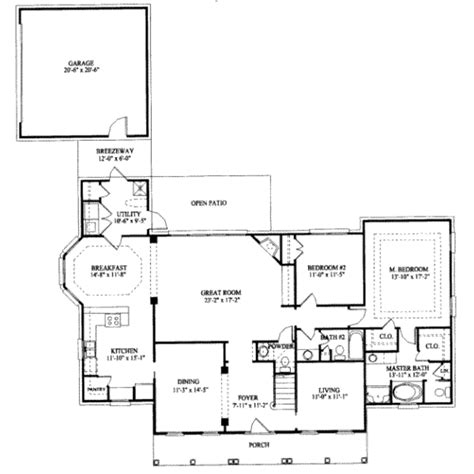 southern style floor plans southern style house plan 4 beds 3 5 baths 2557 sq ft plan 325 120