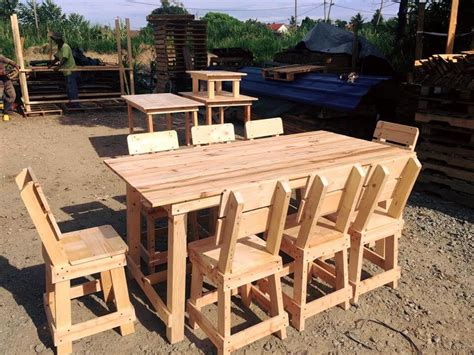 Dining Table Made From Pallets Pallet Outdoor Dining Furniture Set 99 Pallets