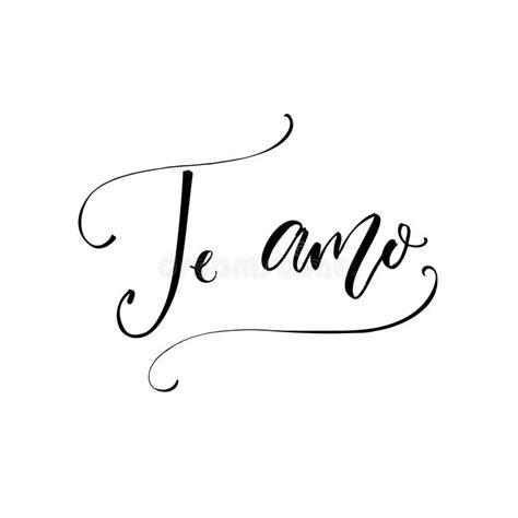 te amo i te amo i love you in spanish language modern calligraphy for valentine s day card stock