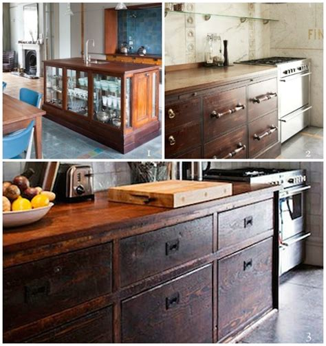 vintage kitchen cabinets salvage repurposed reclaimed nontraditional kitchen island