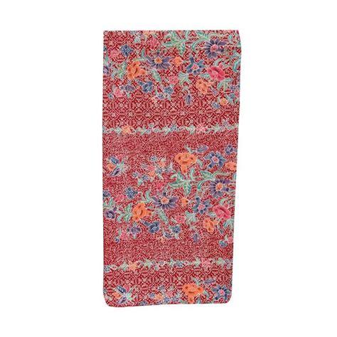 615 Kain Batik Encim Cap jual smesco trade cap motif bunga tulip dan burung kain batik harga kualitas terjamin