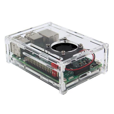 Acrylic For Raspberry Pi B Tqnmw 4 in 1 raspberry pi 3 model b v31 acrylic pi fan