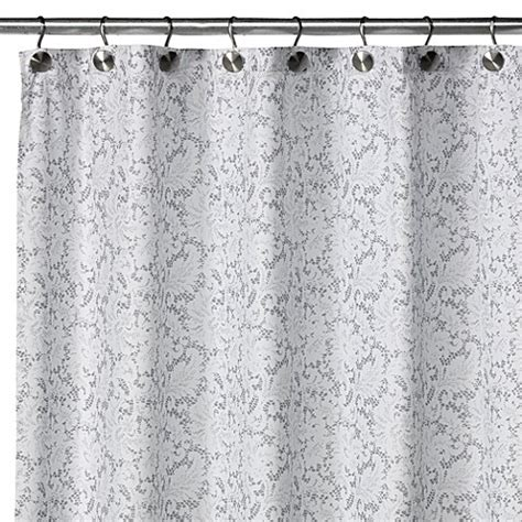 silver shower curtain watershed 174 single solution 2 in 1 victorian fabric shower