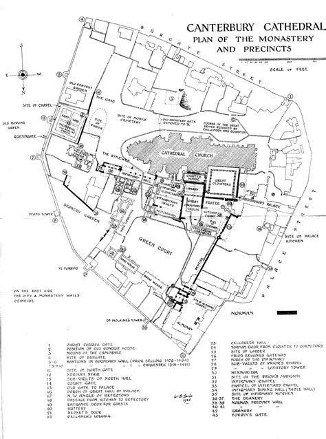 canterbury cathedral floor plan medieval canterbury