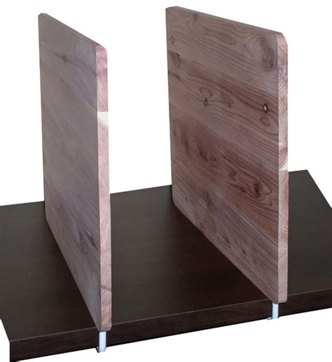wooden shelf dividers cedar set of 2 in shelf dividers