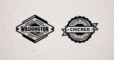 Design Business Cards Print At Home Promo Vector Retro Badges Vol2 Decorative Vectors Pixeden